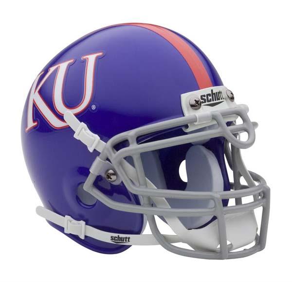 Kansas Jayhawks NCAA Mini Authentic Football Helmet From Schutt