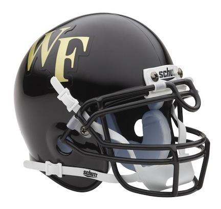 Wake Forest Demon Deacons NCAA Mini Authentic Football Helmet from Schutt