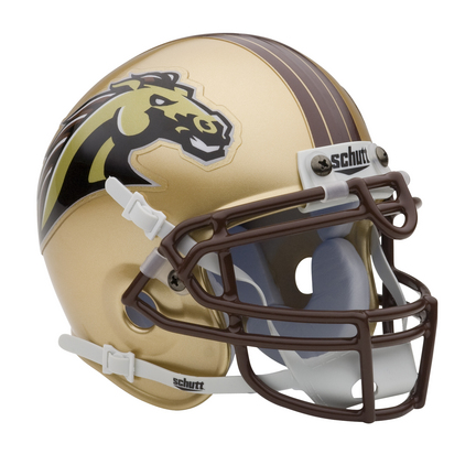 Western Michigan Broncos NCAA Mini Authentic Football Helmet from Schutt