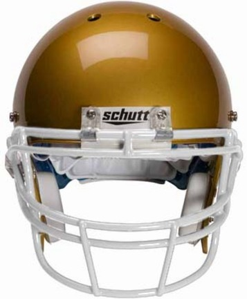 White Reinforced Oral Protection (ROPO) Full Cage Football Helmet Face Guard from Schutt