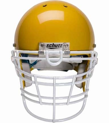 White Reinforced Jaw and Oral Protection (RJOP-XL-UB-DW) Full Cage Football Helmet Face Guard from Schutt