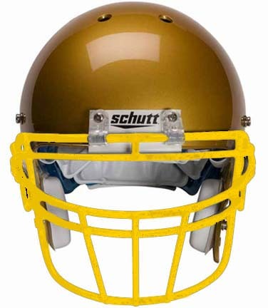 Gold Reinforced Oral Protection (ROPO-DW) Full Cage Football Helmet Face Guard from Schutt
