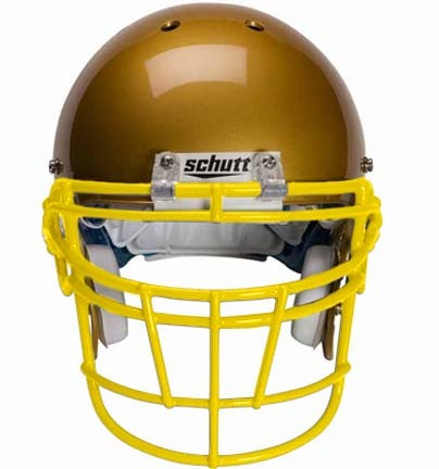 Gold Reinforced Jaw and Oral Protection (RJOP-DW) Full Cage Football Helmet Face Guard from Schutt