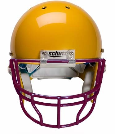 Maroon Reinforced Oral Protection (OPO-XL) Full Cage Football Helmet Face Guard from Schutt