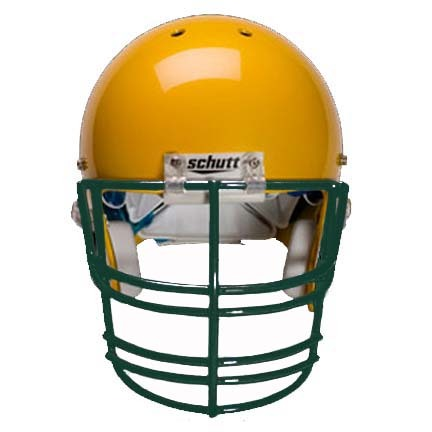 Dark Green Nose, Jaw and Oral Protection (NJOP-XL) Full Cage Football Helmet Face Guard from Schutt