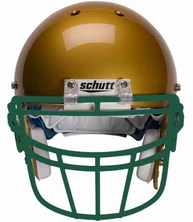 Dark Green Reinforced Oral Protection (ROPO-DW) Full Cage Football Helmet Face Guard from Schutt
