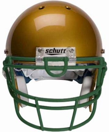 Dark Green Reinforced Oral Protection (ROPO-UB) Full Cage Football Helmet Face Guard from Schutt