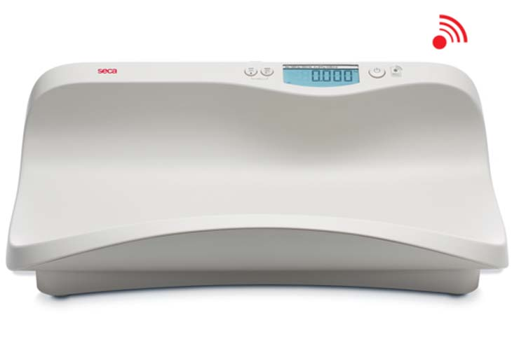 Seca 374 Electronic Baby Scale with Shell Shaped Tray (Weighs up to 44 lbs)