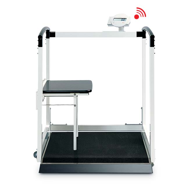 Seca 684 Multifunctional Scale with Handrail and Fold-Up Seat (800 Pound Capacity)