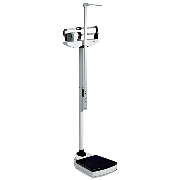 Seca 700 Physicians Mechanical Balance Beam Scale with Height Rod and Wheels - Measures in LBS and KG