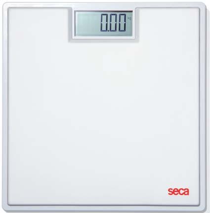 Seca 803 Clara Digital Floor Scale with White Rubber Mat