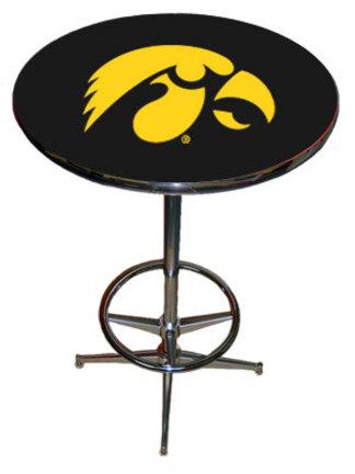 Iowa Hawkeyes Chrome / Laminate Pub Table