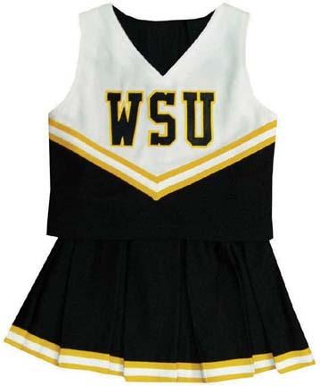 Wichita State Shockers Young Girls Cheerleader Uniform