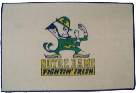 Notre Dame Fighting Irish Leprechaun Door Mat