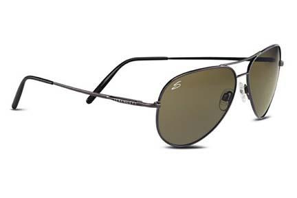 Medium Aviator Classics Collection Sunglasses (Shiny Gunmetal Frame and 555nm Polarized Lenses) from Serengeti