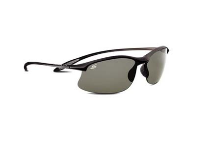Maestrale Polar PhD™ Sport Collection Sunglasses (Satin Black Frame and Polar PhD™ CPG Lenses) from Se
