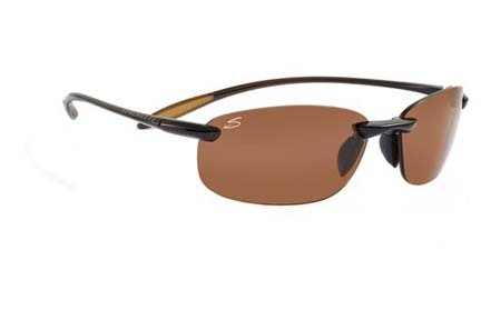 Nuvola Polar PhD™ Sport Collection Sunglasses (Shiny Brown Frame and Polar PhD™ Drivers Lenses) from S