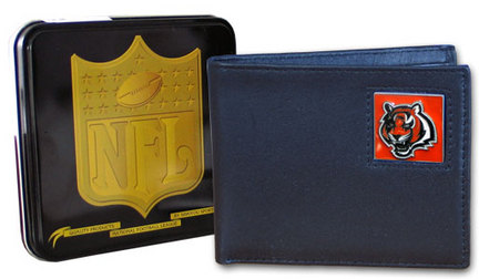Cincinnati Bengals Leather Bi-fold Wallet