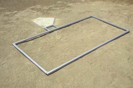 3' x 7' Softball Batter's Box Template
