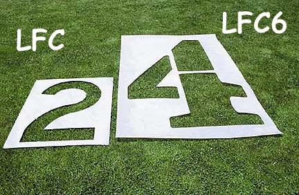 3' Football Stencil Marking Kit - 0 through 5 and G