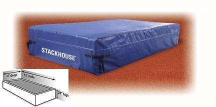 """Elementary High Jump Landing System Pit - 12' x 6' x 24"""" Pit"""