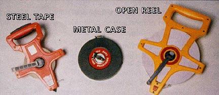 165' (50 Meters) Fiberglass Tape Measure - Metal Case