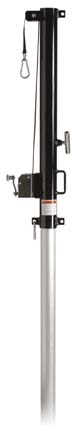 """End Standard with Winch for 3"""" Steel/Aluminum Multi Game System - (One Standard with Winch)"""