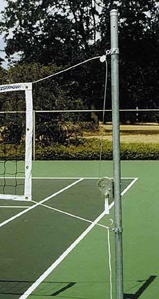 Floor Sleeve for the Outdoor Volleyball System