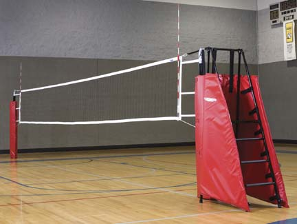 """3 1/2"""" Aluminum Power Volleyball Game Standards and Net"""