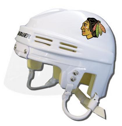 Chicago Blackhawks Official NHL Mini Player Helmet (White) SMG-BAHKYMCHIW