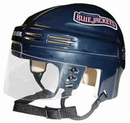 Columbus Blue Jackets NHL Authentic Mini Hockey Helmet from Bauer (Blue)