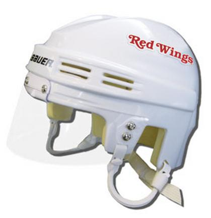 Detroit Red Wings Official NHL Mini Player Helmet (White) SMG-BAHKYMDETW