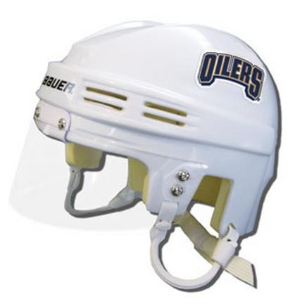 Edmonton Oilers Official NHL Mini Player Helmet (White)