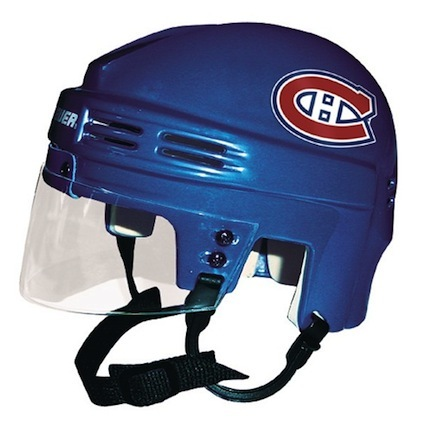 Montreal Canadiens Official NHL Mini Player Helmet (Blue) SMG-BAHKYMMON