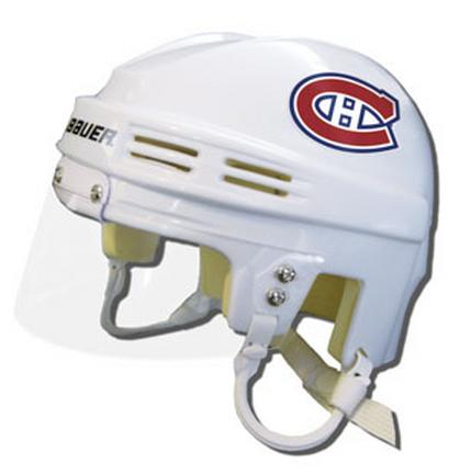 Montreal Canadiens Official NHL Mini Player Helmet (White) SMG-BAHKYMMONW
