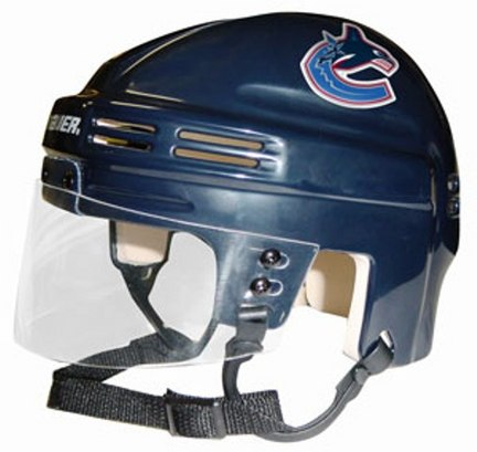 Vancouver Canucks NHL Authentic Mini Hockey Helmet from Bauer (Blue)