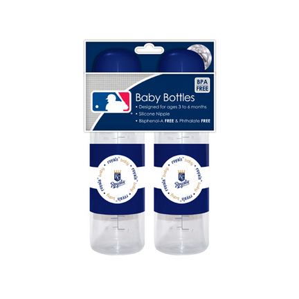 Kansas City Royals Baby Fanatic Baby Bottles (2 Pack) SMG-BFBBKANB