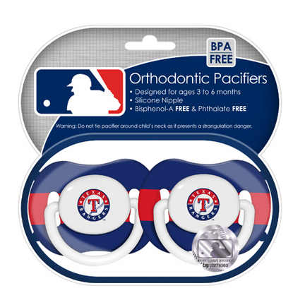 Texas Rangers Baby Fanatic Baby Pacifiers (2 Pack)