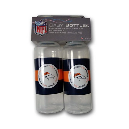 Denver Broncos Baby Fanatic Baby Bottles (2 Pack)
