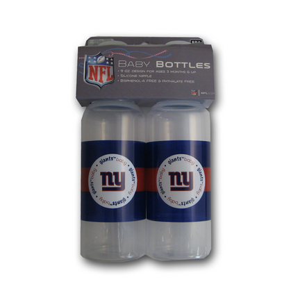 New York Giants Baby Fanatic Baby Bottles (2 Pack)