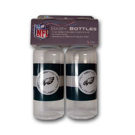 Philadelphia Eagles Baby Fanatic Baby Bottles (2 Pack)