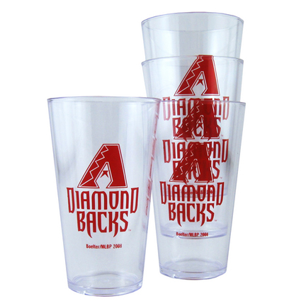 Arizona Diamondbacks Boelter Plastic Pint Cups (Set of 4)