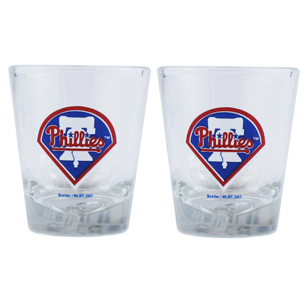 Philadelphia Phillies Boelter Shot Glasses (2 Glasses)