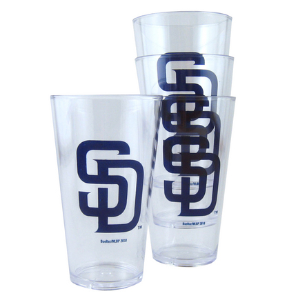 San Diego Padres Boelter Plastic Pint Cups (Set of 4) SMG-BOBBSDIT4