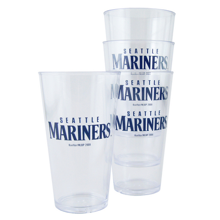 Seattle Mariners Boelter Plastic Pint Cups (Set of 4) SMG-BOBBSEAT4