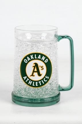 Oakland Athletics 16 oz Plastic Crystal Freezer Mugs - Set of 4