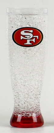 San Francisco 49ers 16 oz Crystal Freezer Pilsner - Set of 4 SMG-CMFBSFRP