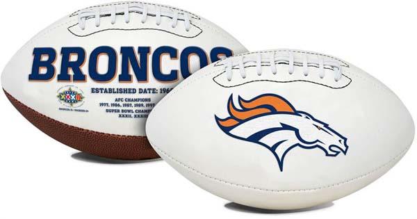 Denver Broncos Signature Series Full Size Football