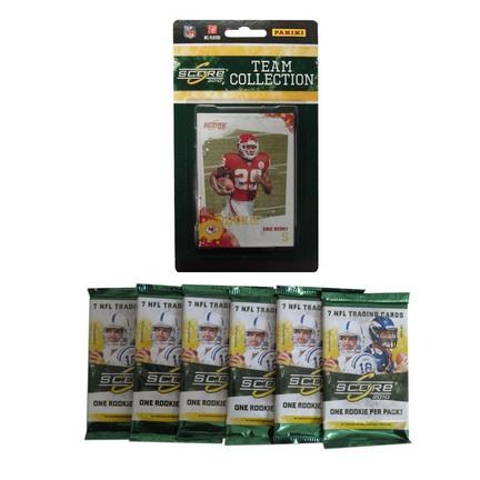 Kansas City Chiefs 2010 Score NFL Team Set with Six Score Packs