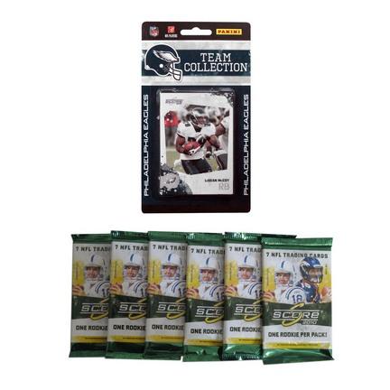 Philadelphia Eagles 2010 Score NFL Team Set with Six Score Packs